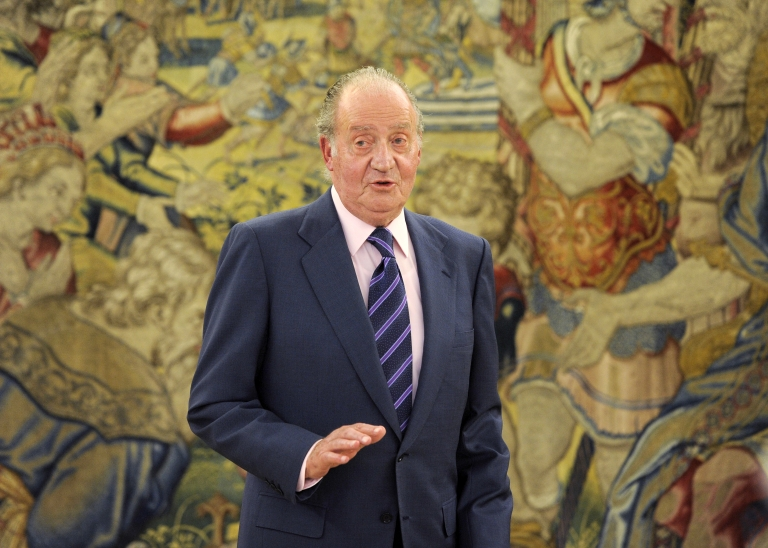 <p>Spanish King Juan Carlos I pictured at La Zarzuela Palace in Madrid on March 18, 2011.</p>