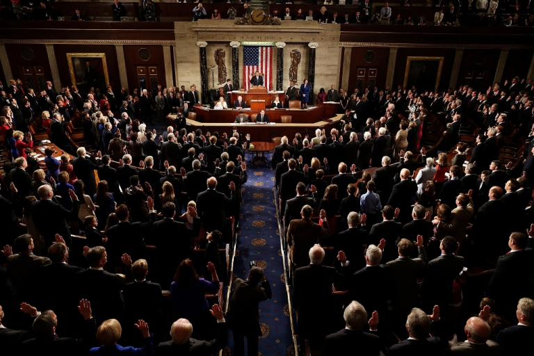 <p>The 113th Congress is sworn in Jan. 3, 2013 in Washington, D.C. As polarization increases, the debt ceiling, sequestration, and the 2013 budget will become increasingly difficult to handle.</p>