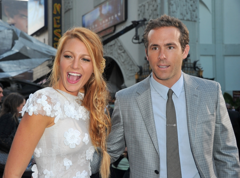 <p>Actors Blake Lively (L) and Ryan Reynolds arrive at the premiere of Warner Bros. Pictures' 'Green Lantern' held at Grauman's Chinese Theatre on June 15, 2011 in Hollywood, California.</p>
