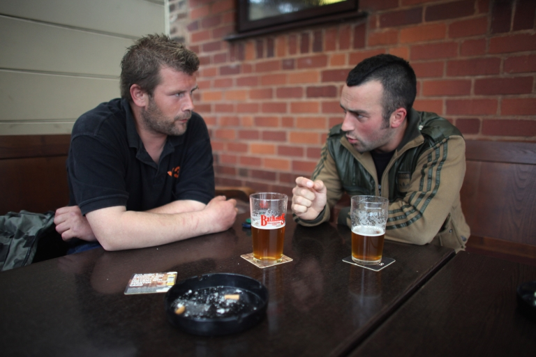<p>Regulars at the Bull and Bladder Pub enjoy the atmosphere of the traditional Black Country establishment on June 16, 2011 in Dudley, England.</p>