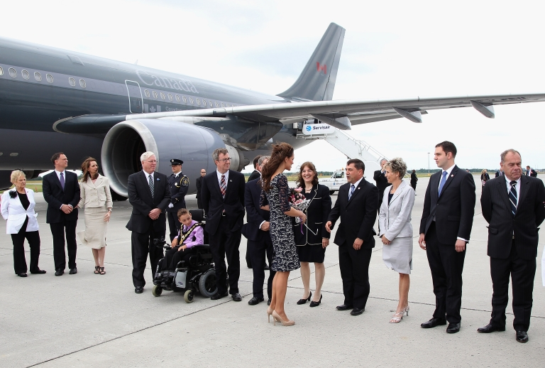 <p>Next time Prince William and Kate Middleton fly through Ottawa's airport, the sweet nothings he whispers into her ear could be caught on tape.</p>