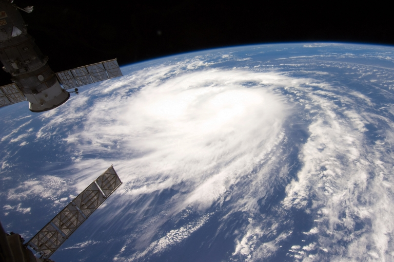 <p>Satellite images from the National Oceanic and Atmospheric Administration (NOAA) show Hurricane Katia in the Atlantic Ocean on  September 1, 2011.</p>