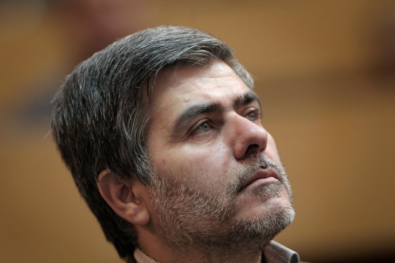 <p>The head of the Iranian Atomic Energy Organization Fereydoun Abbasi Davani attends a ceremony in Tehran on September 6, 2011.</p>