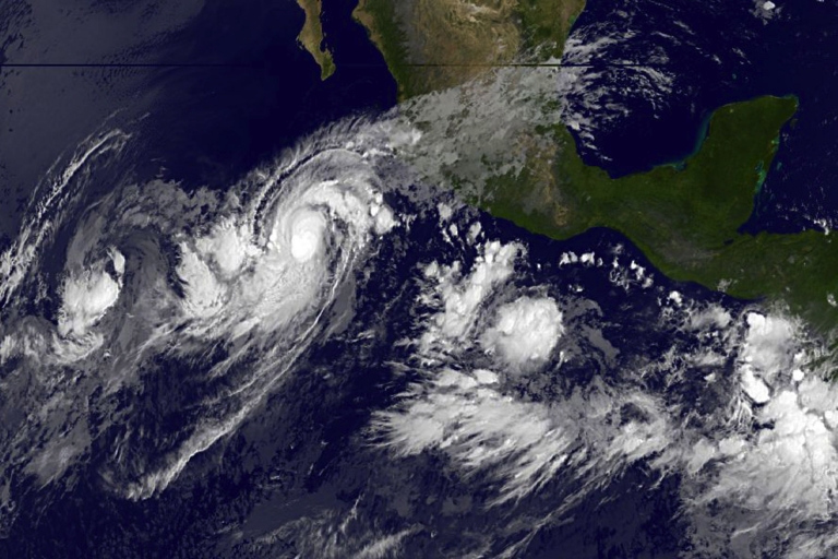 <p>This October 9, 2011 handout image courtesy of NOAA's GOES Project Science, shows a satellite view of Hurricane Jova. Hurricane Jova was strengthening as it headed for the southwestern Mexican coast, U.S. meteorologists said Sunday, warning the system would likely grow further in the coming days.</p>