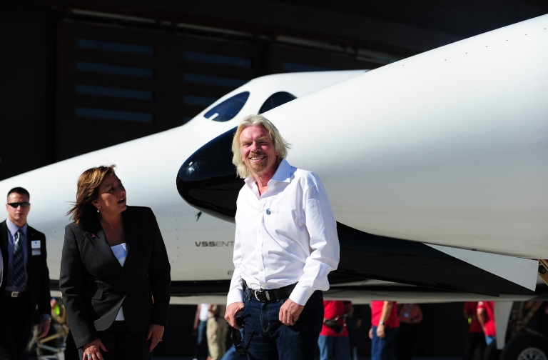 <p>Sir Richard Branson's Virgin Galactic said it will launch its first test flight for a commercial space ship by the end of the year.</p>
