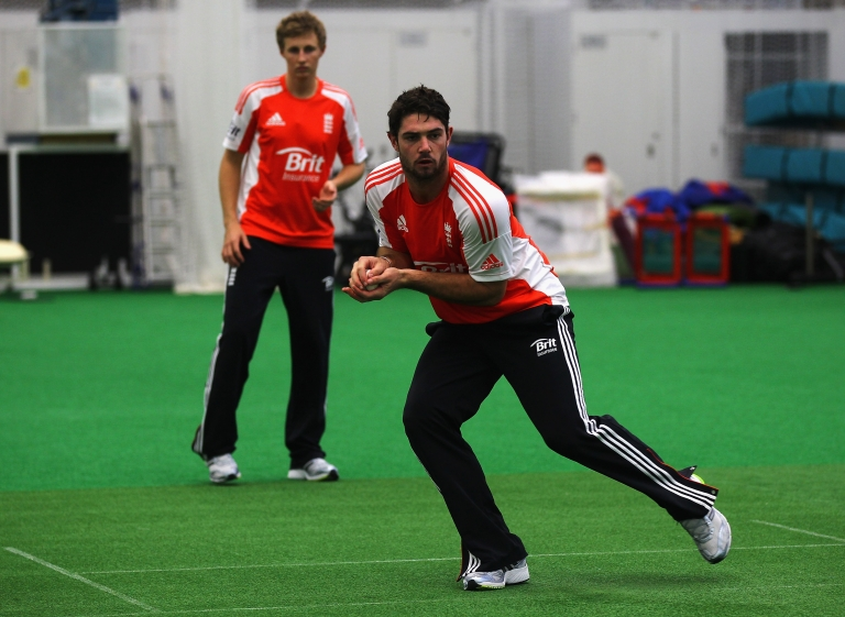 <p>Tom Maynard of England in action during a training session at the National Cricket Performance Centre on October 31, 2011 in Loughborough, England.</p>