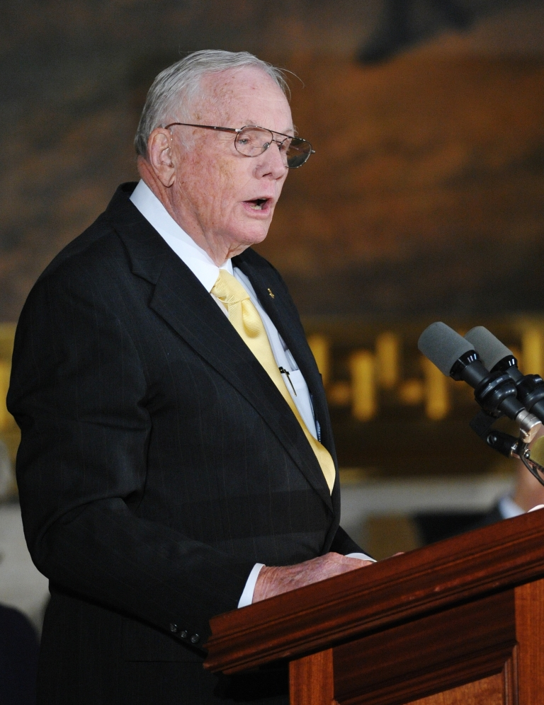 <p>Neil Armstrong, former astronaut, is recovering after cardiac bypass surgery on Thursday.</p>