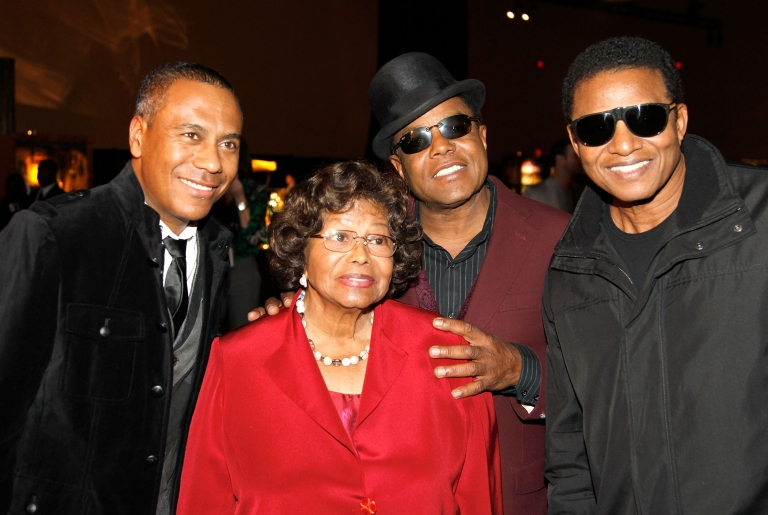 <p>Show musical designer Kevin Antunes, Katherine Jackson, Tito Jackson and Jackie Jackson appear at Michael Jackson Fan Fest prior to the Las Vegas premiere of Michael Jackson THE IMMORTAL World Tour by Cirque du Soleil at the Mandalay Bay Resort &amp; Casino December 3, 2011 in Las Vegas, Nevada.</p>
