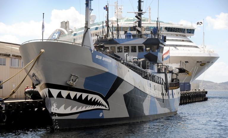 <p>The Sea Shepherd ship