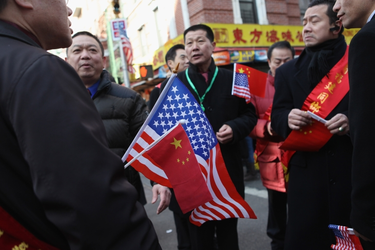 <p>Participants in the Chinese New Year parade gather on January 29, 2012 in New York City.</p>