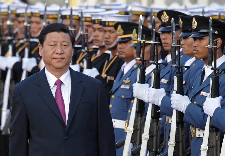 <p>Xi Jinping during his visit to Bangkok on December 22, 2011.</p>