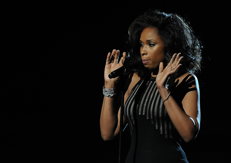 <p>Jennifer Hudson performs in memory of the late Whitney Houston at the Staples Center during the 54th Grammy Awards in Los Angeles, California, February 12, 2012.</p>