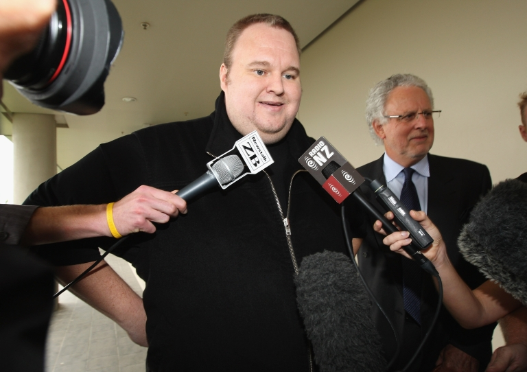 <p>Megaupload founder Kim Dotcom at North Shore District Court on February 22, 2012 in Auckland, New Zealand.</p>
