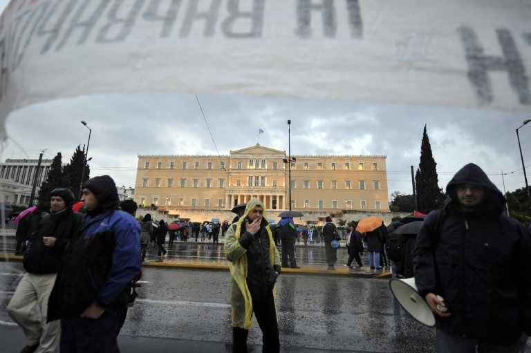 <p>Fitch became the first ratings agency Tuesday to upgrade Greek debt out of default territory.</p>