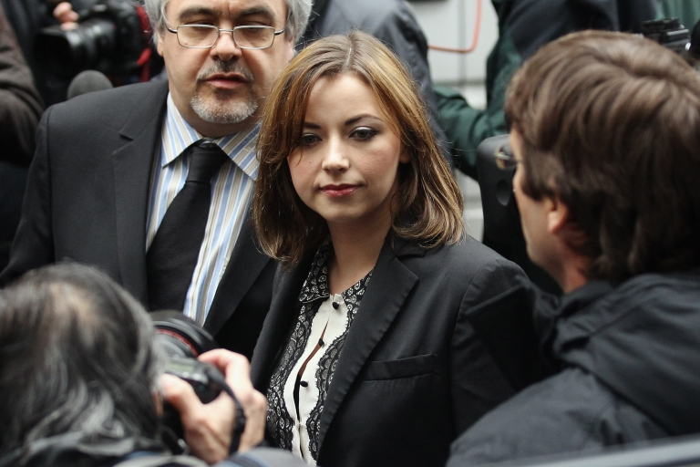 <p>Singer Charlotte Church leaves the Royal Courts of Justice after reading a statement to the gathered press on February 27, 2012 in London, England.</p>