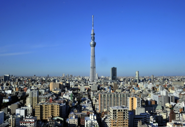 <p>Tokyo's Sky Tree telecommunications tower is the tallest free standing structure in the world and the second tallest building after the Burj Khalifa in Dubai.</p>