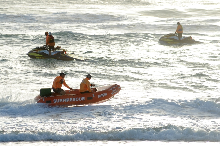 <p>Search for missing Maroochydore SLSC competitor Matthew Barclay resumes at Kurrawa Beach on March 29, 2012 on the Gold Coast, Australia.</p>