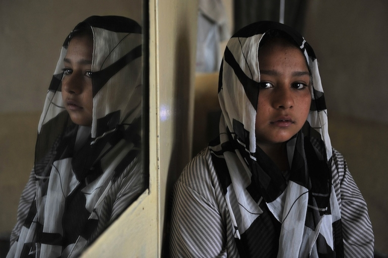 <p>Eleven year old Afghan girl Tarana Akbari, poses for a photograph. Millions of girls like her are subjected to abuse in Afghanistan, says Women for Afghan Women Executive Director Manizha Naderi.</p>