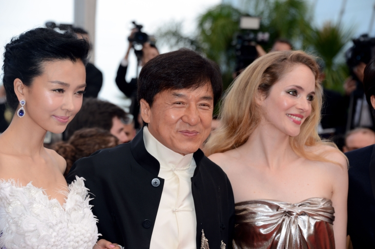 <p>Actor Jackie Chan (C) attend the 'De Rouille et D'os' Premiere during the 65th Annual Cannes Film Festival at Palais des Festivals on May 17, 2012 in Cannes, France.</p>