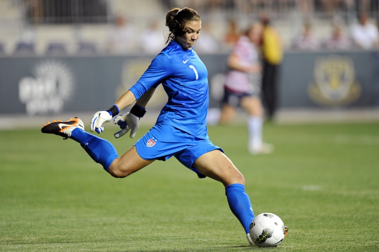 <p>Hope Solo, the US soccer team's goalie, has been issued a public warning after testing positive for Canrenone.</p>