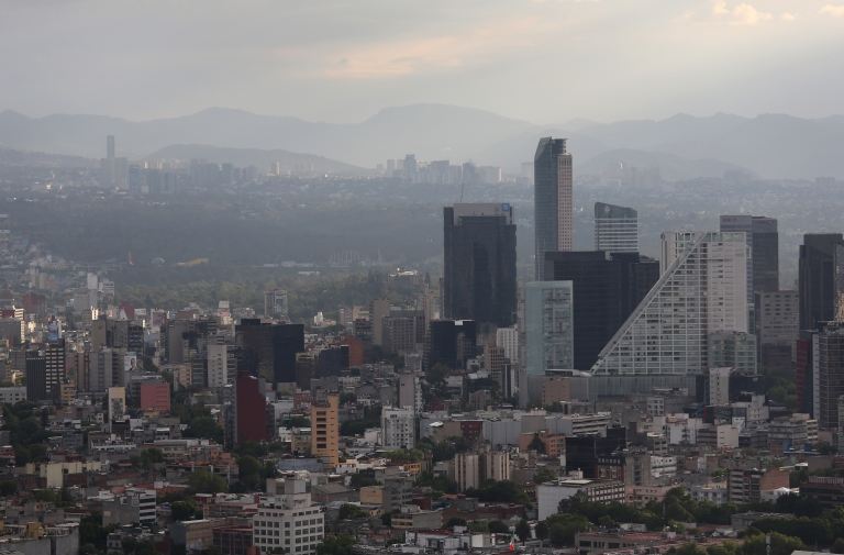 <p>A view of the skyline of Mexico City, Mexico, on June 26, 2012.</p>