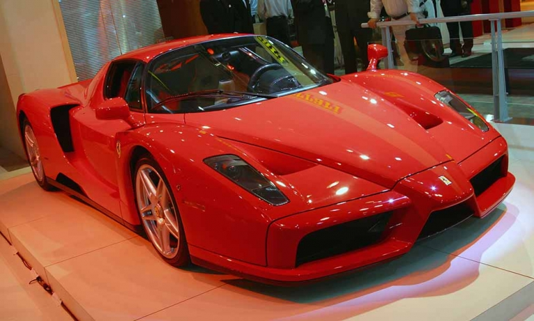 <p>The new Ferrari Enzo is revealed at the Sydney International Motor Show on October 17, 2002 in Sydney, Australia. The Enzo is modelled on Ferrari's F1 race cars and is the fastest production car in the world.</p>