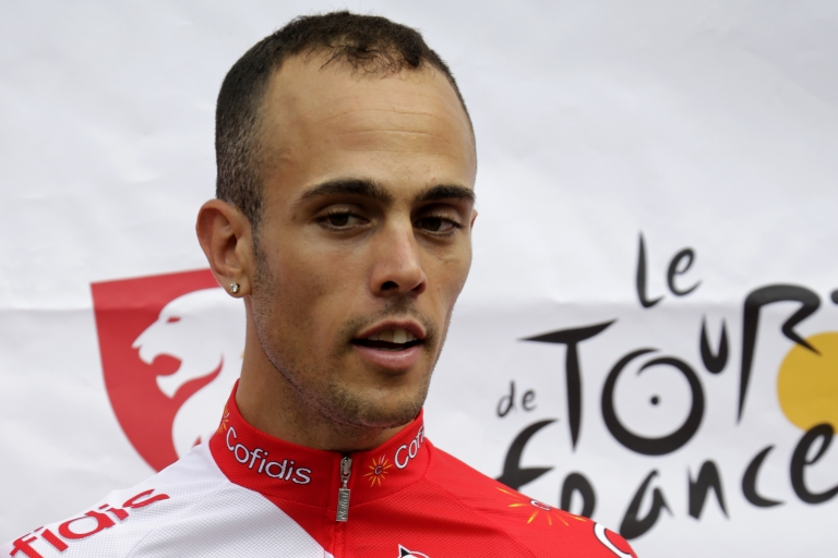 <p>A file picture taken on June 28, 2012 in Liege, shows France's Remy di Gregorio of French Cofidis cycling team posing during the official cycling teams presentation.</p>