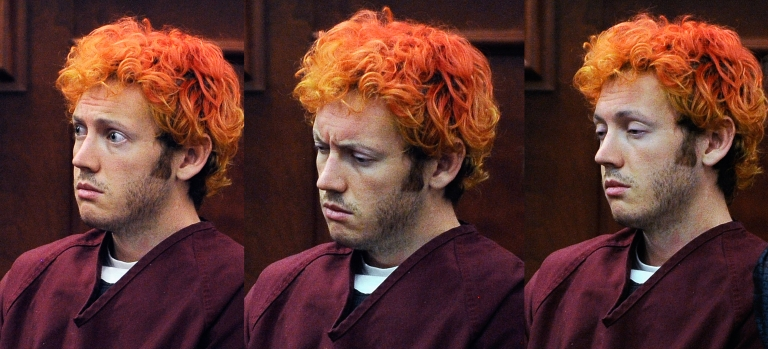 <p>Accused movie theater shooter James Holmes makes his first court appearance at the Arapahoe County on July 23, 2012 in Centennial, Colorado.</p>