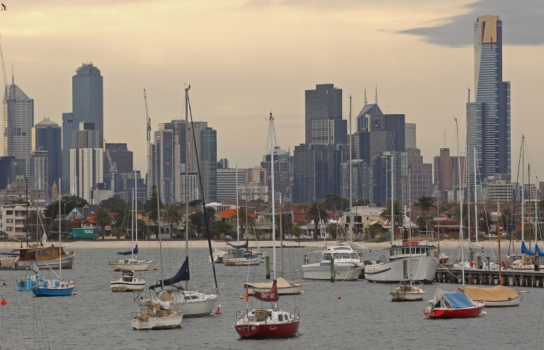 <p>Boats float in St Kilda Harbour on August 14, 2012 in Melbourne, Australia.</p>