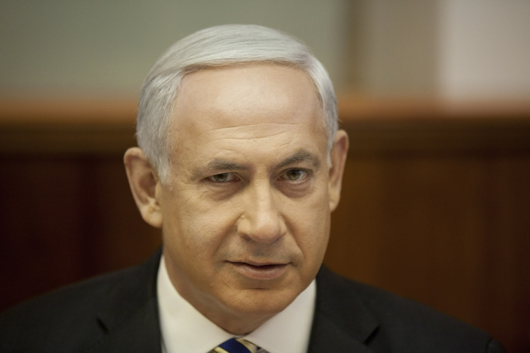 <p>Israeli Prime Minister Benjamin Netanyahu said Sunday that a red line for Iran was needed.</p>