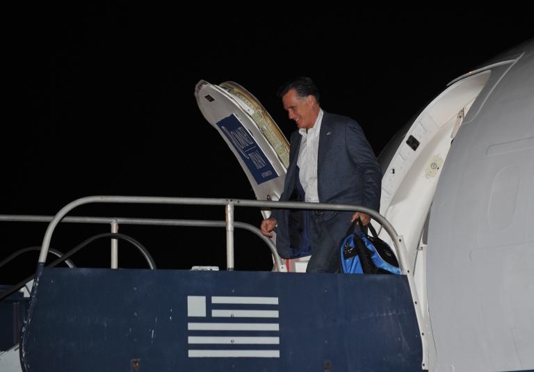 <p>Mitt Romney wonders why airplane windows don't open.</p>