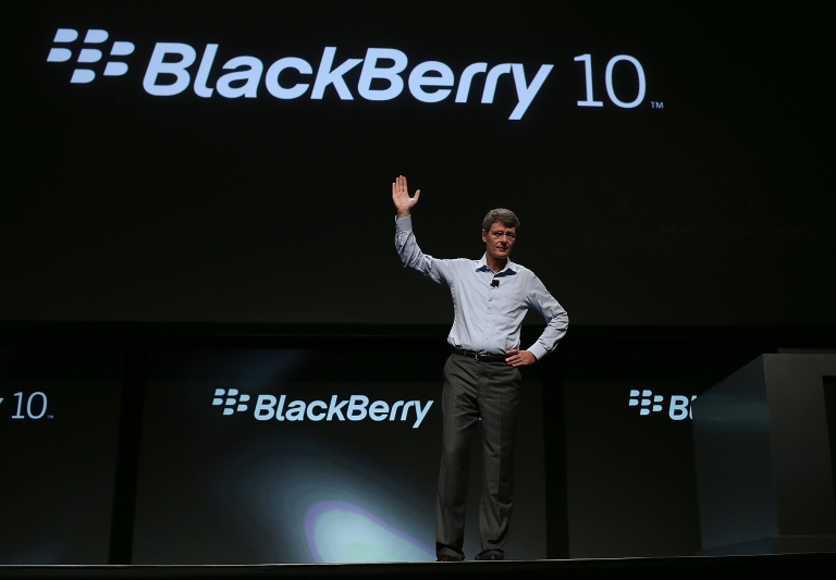 <p>Shares in Research in Motion (RIM), the maker of the Blackberry, dropped precipitously on Friday, ahead of the Blackberry 10 device launch in January.</p>