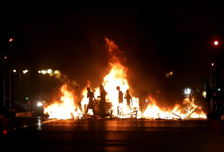 <p>Protests rock Lebanon a day after the killing of Brig. Gen. Wissam al-Hassan, Lebanon's intelligence chief.</p>