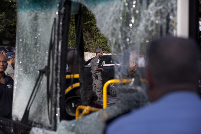 <p>A suspect in the Tel Aviv bus bombing Wednesday was arrested by Israeli police who said the man had admitted to the crime.</p>