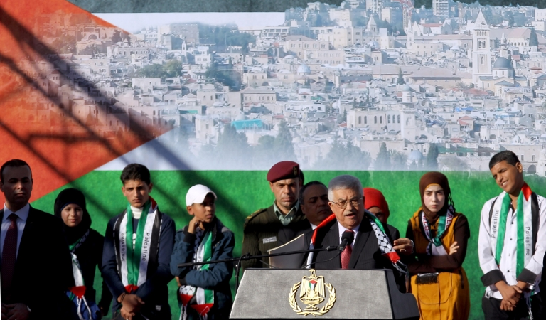 <p>The Palestinian President Mahmoud Abbas has returned home to the West Bank with throngs of people cheering his arrival.</p>