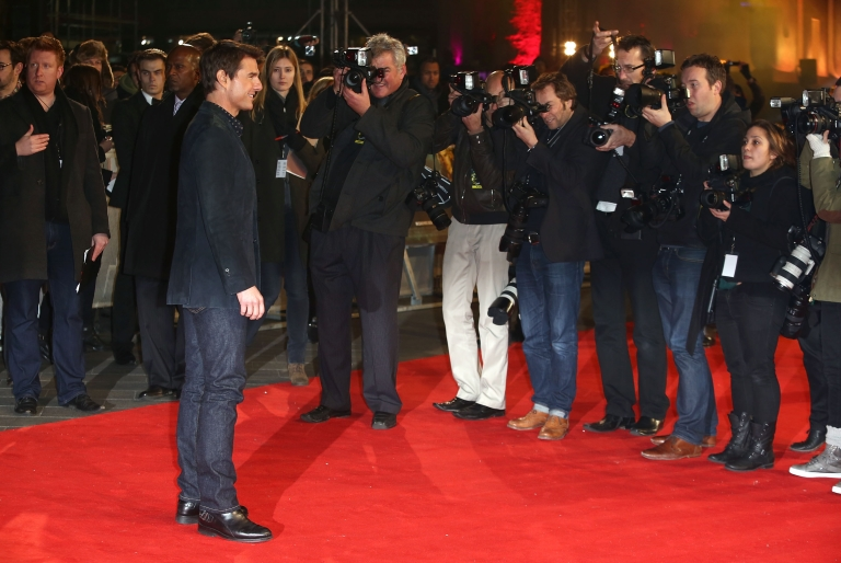 <p>Tom Cruise attends the World Premiere of 'Jack Reacher' at Odeon Leicester Square on December 10, 2012 in London, England.</p>