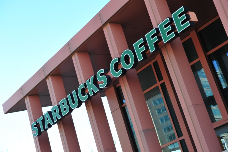 <p>Starbucks' profits rose 13 percent last quarter on strong sales in Asia and the Americas.</p>