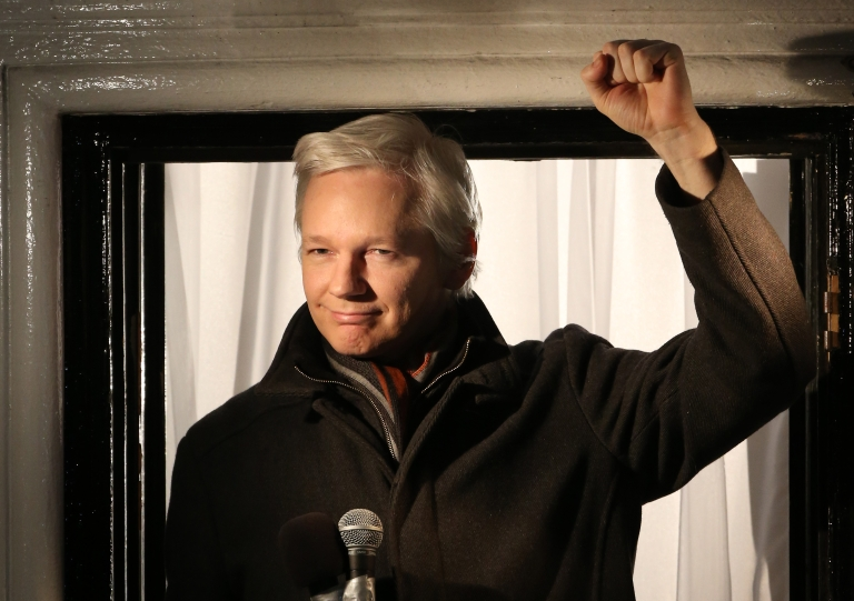 <p>Wikileaks founder Julian Assange speaks from the Ecuadorian Embassy on December 20, 2012 in London, England.</p>