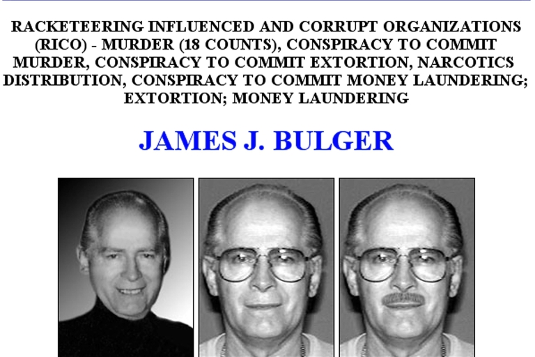 <p>This FBI Ten Most Wanted Fugitive poster shows reputed Boston mobster James