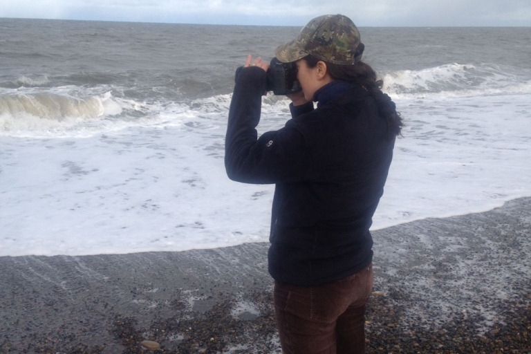 <p>Caitlin McNally at work in Barrow, Alaska</p>