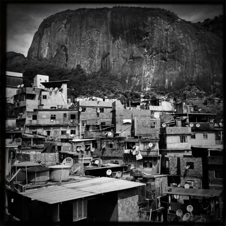 <p>A view of Rocinha, a favela in Rio de Janeiro, from Adilson Mendes Junior's house balcony, on January 14, 2013.</p>