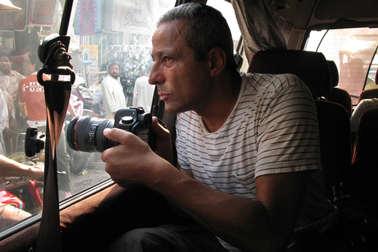 <p>Ed Kashi on assignment.</p>