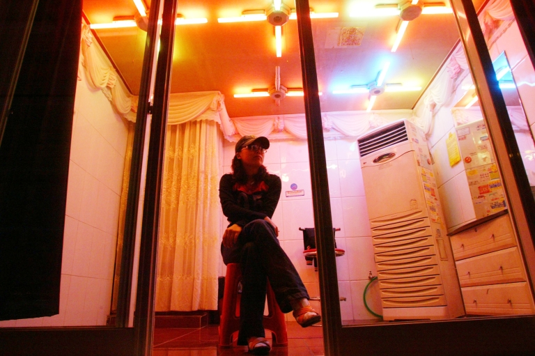 <p>Gangnam brothel raided by police in Seoul, South Korea. Police have cracked down on prostitution in the country which by some estimates accounts for 1.6 percent of GDP.</p>