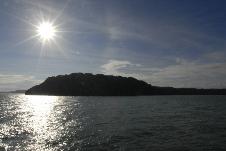 <p>The sun rises over Guimaras island in the Philippines.</p>