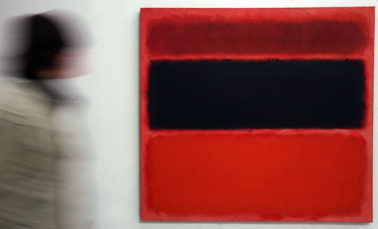 <p>A Mark Rothko painting was defaced with black marker at London's Tate Modern gallery Sunday.</p>