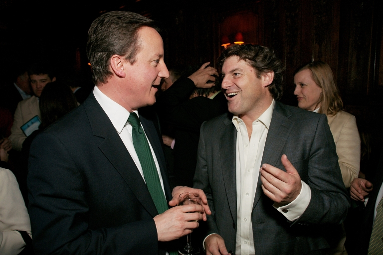 <p>David Cameron and Charlie Brooks attend the book launch for Brooks' book