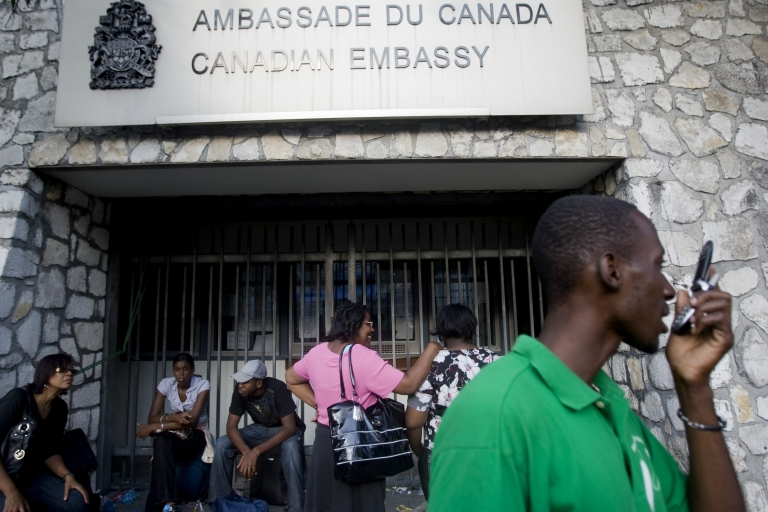 <p>Canada and the UK will be become partners in diplomatic missions together. Above, Canada's embassy in Port-au-Prince, Haiti.</p>