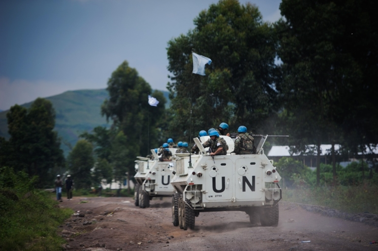 <p>UN armored personnel in Congo on Nov. 18, 2012.</p>