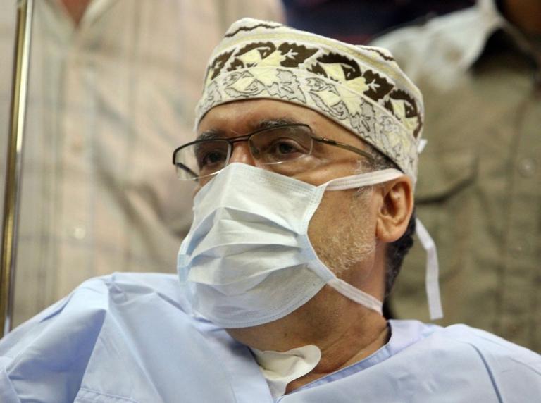 <p>Lockerbie bomber Abdel Baset al-Megrahi, pictured in hospital in Tripoli on September 9, 2009.</p>