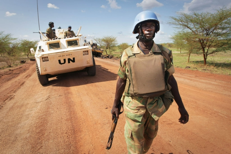 <p>Peacekeepers on patrol in Abyei where a clutch of proposals have been made all seeking to defuse the ongoing crisis.</p>